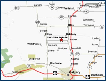 Sled Parlor HWY Directions - Us highway 2 map
